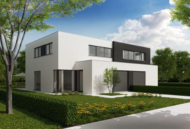 Mooi huis contrast zwart en wit idee n voor het huis pinterest interiors - Huis in de moderne ...