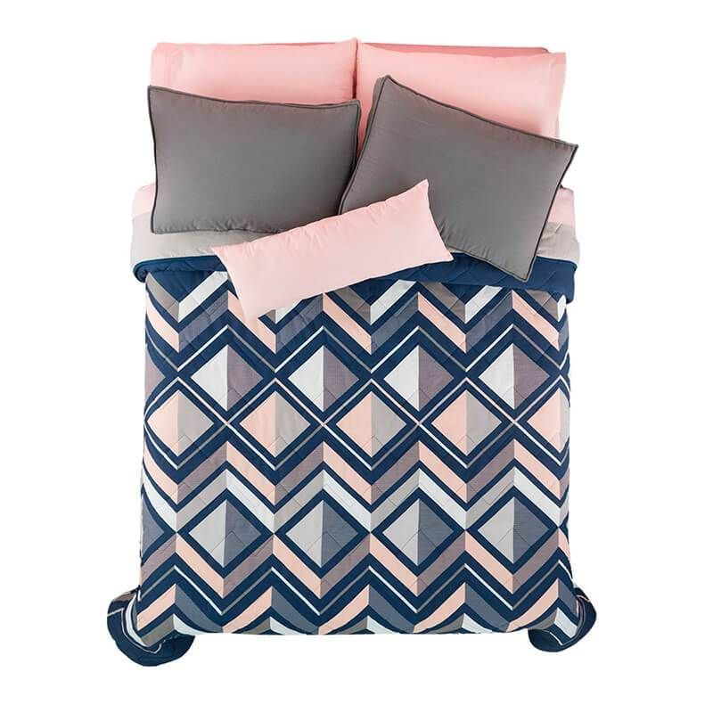 Madison Bedding Set With Images Blue And Pink Bedroom White