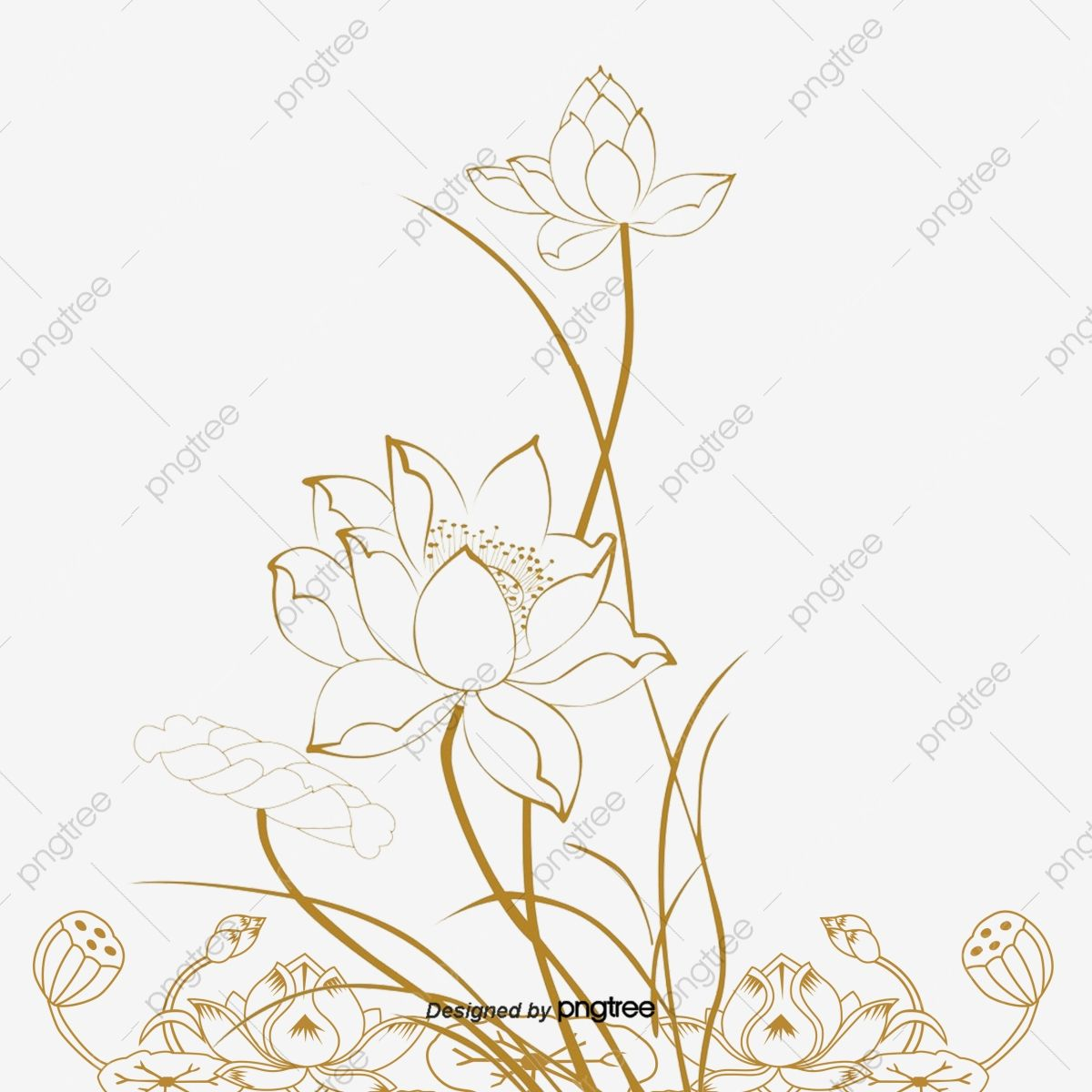 Lotus flower line icon concept. Lotus flower flat vector
