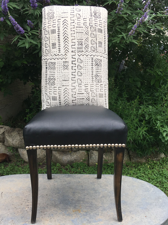 Best African Mud Cloth Accent Chair Mali Mud Cloth Black 400 x 300