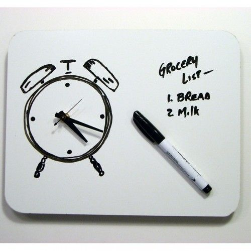 Doodle Your Own Clock On This Whiteboard Clock Wall Clock Design Clock Diy Clock