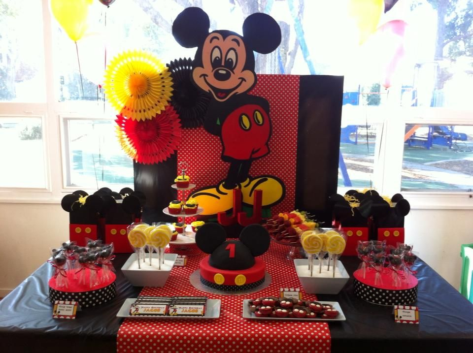 sweet table mickey mouse party Mickey mouse first