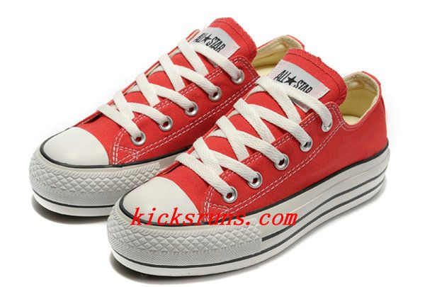 brillante n color fotos nuevas fábrica Red Platform Converse All Star Classic Low Tops Canvas Shoes ...
