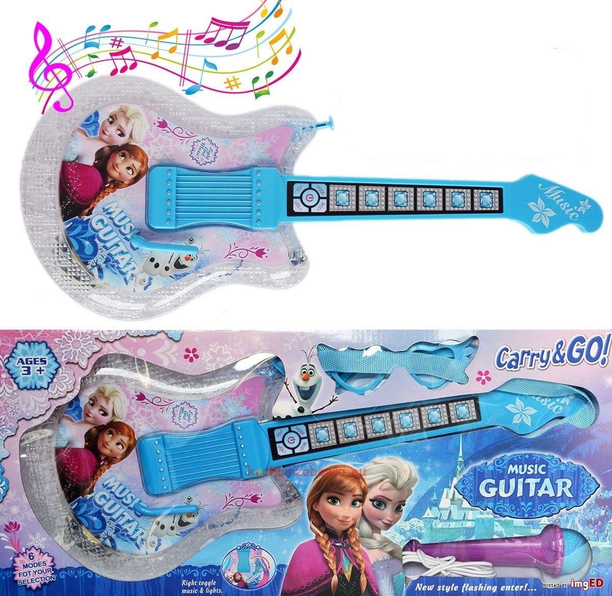 Frozen Gitara Elektryczna Z Mikrofonem Dla Dzieci