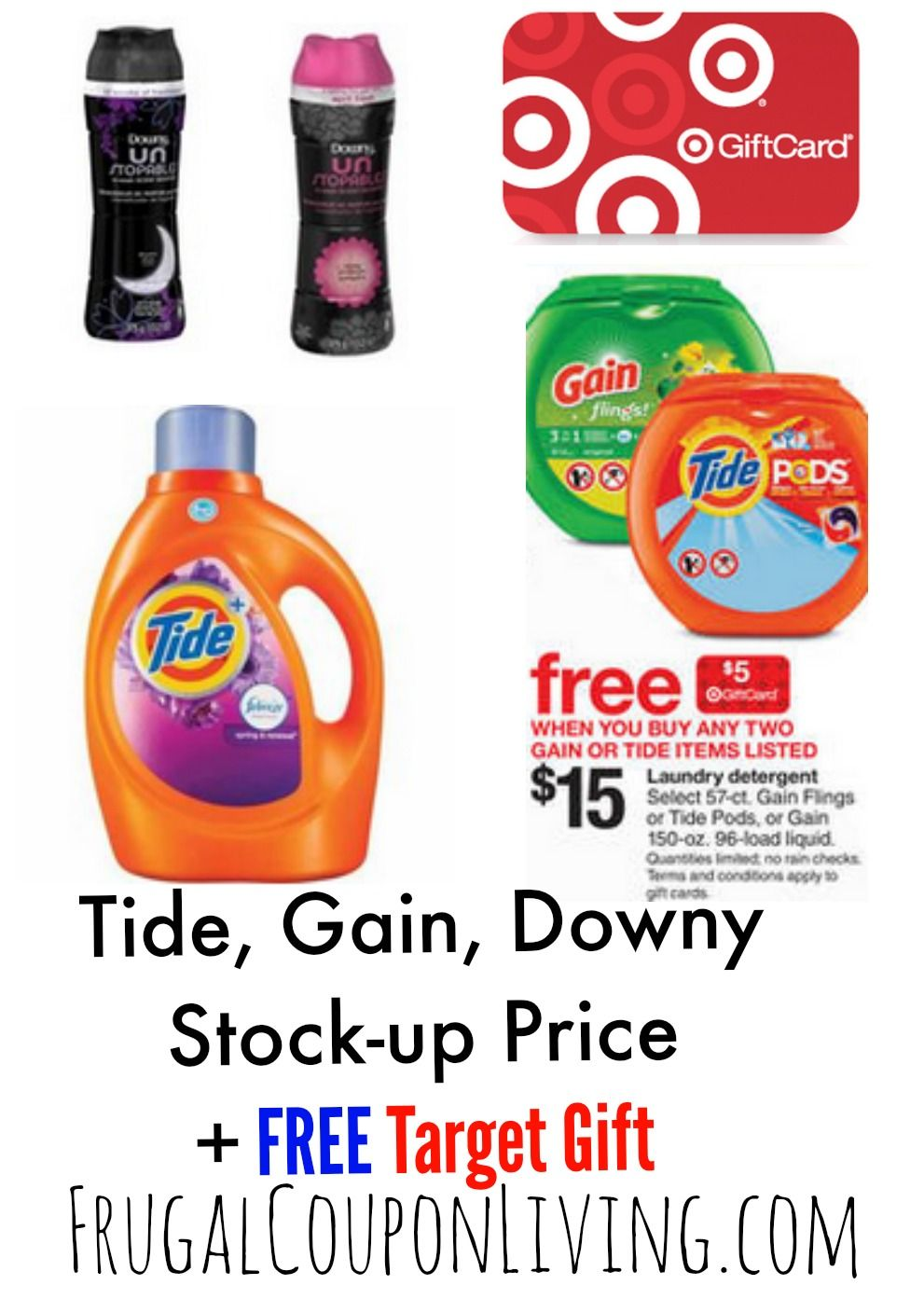 photograph relating to Free Printable Gain Laundry Detergent Coupons known as Concentration Laundry Detergent Promotions + Tide Downy Printable
