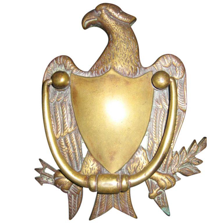 High Quality Brass Eagle Door Knocker USA CIRCA 1900 BRASS EAGLE DOOR KNOCKER WITH GREAT  DETAI
