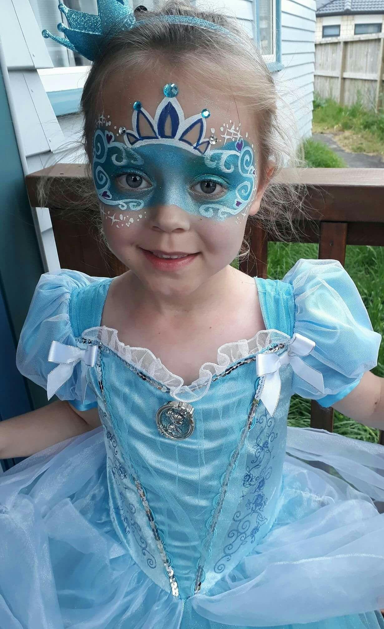 Cinderella mask face paint #dollfacepainting