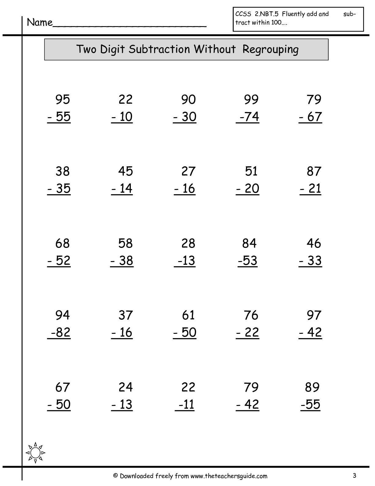 8 Free Printable Math Exercises In