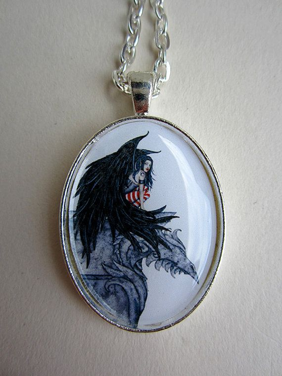 Hey, I found this really awesome Etsy listing at https://www.etsy.com/listing/202176518/gothic-fairy-pendant-necklace