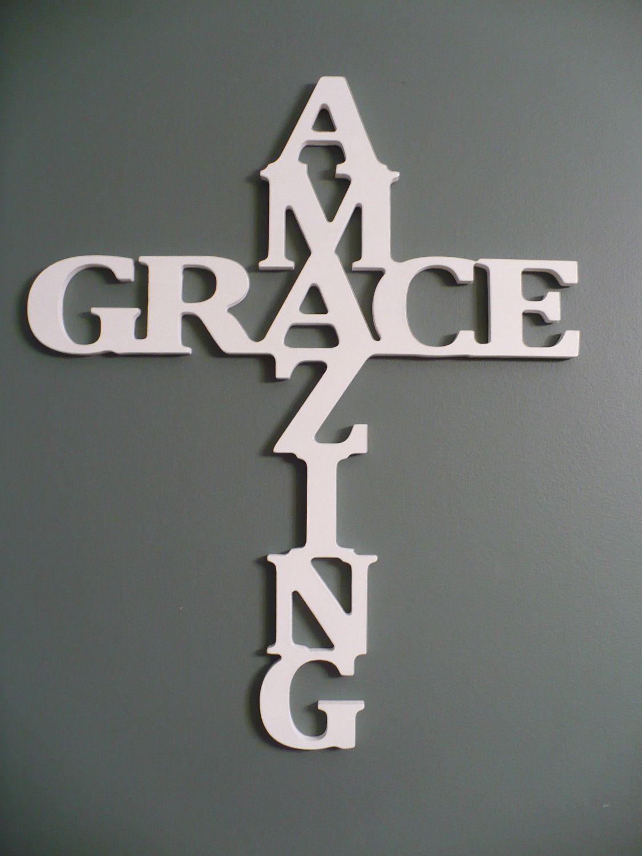 Wooden+Amazing+Grace+Cross+wall+decor+Amazing+by ...