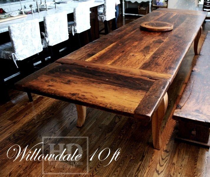 Superior Reclaimed Wood Harvest Table With Epoxy/polyurethane Finish Ontario  Barnwood Cambridge,ON By HD