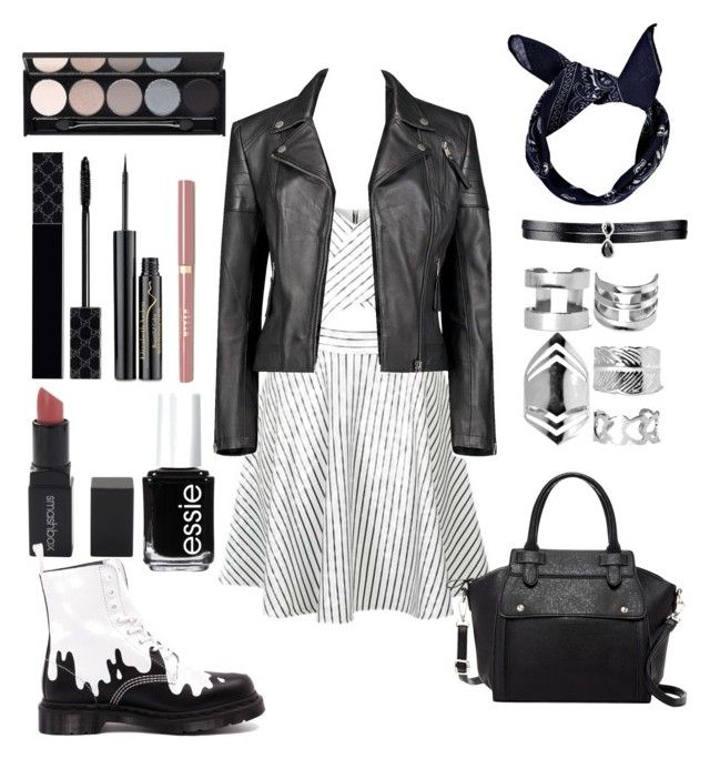 """""""Untitled #105"""" by gilda-golden on Polyvore featuring Topshop, Boohoo, Pink Haley, Fallon, Elizabeth Arden, Gucci, Witchery, Smashbox, Dr. Martens and Essie"""