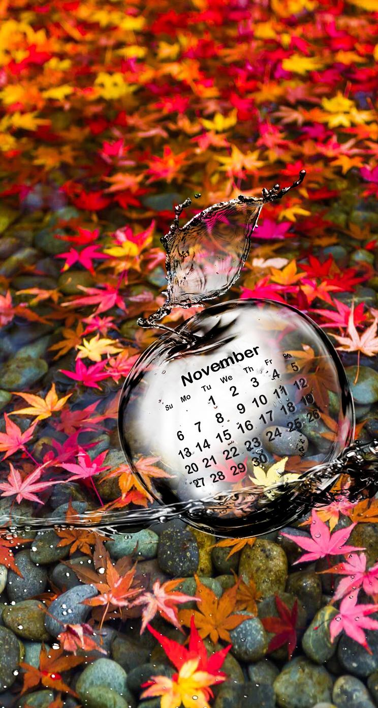 Wallpaper iPhone calendar November ⚪️ Calendar