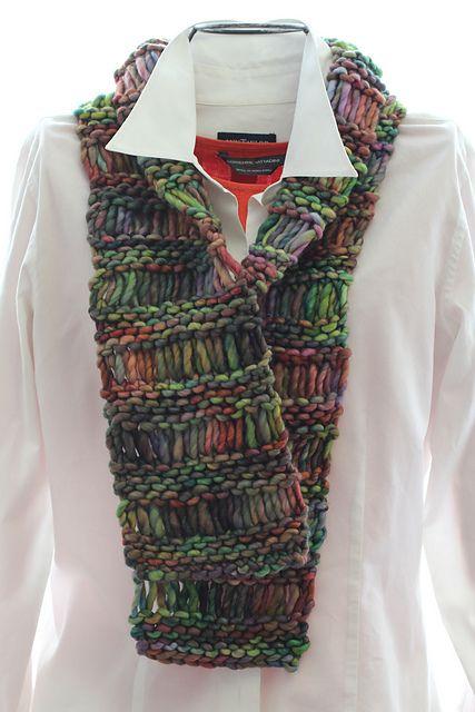 Rasta Drop Stitch Scarf pattern by Molly Conroy. malabrigo Rasta, Arco Iris c...
