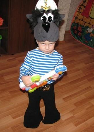 Новогодний костюм волка для мальчика своими руками фото 154