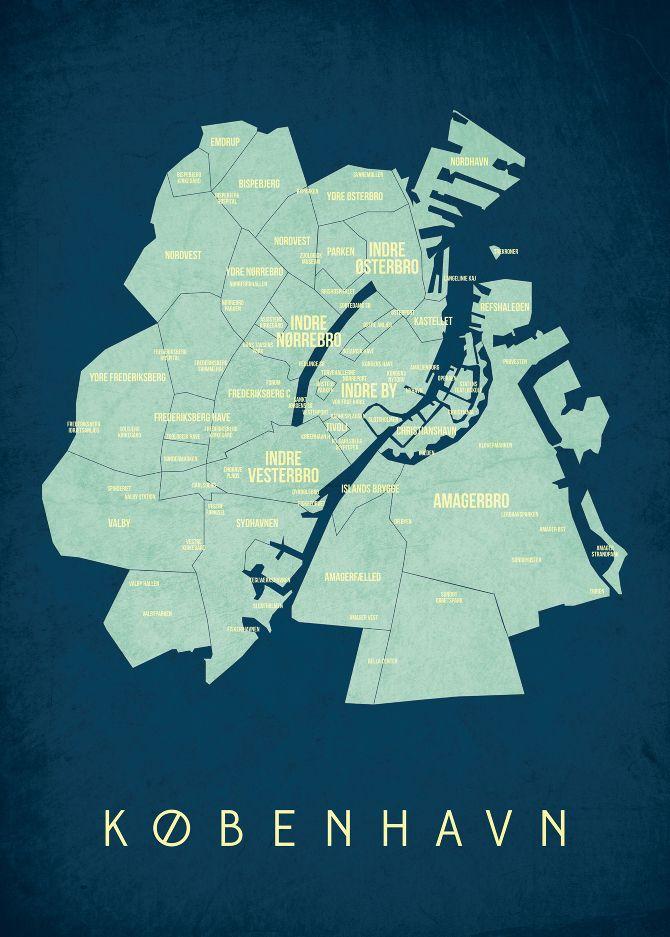 Kbh Map Nis Klamer Plakater Kort Og Design