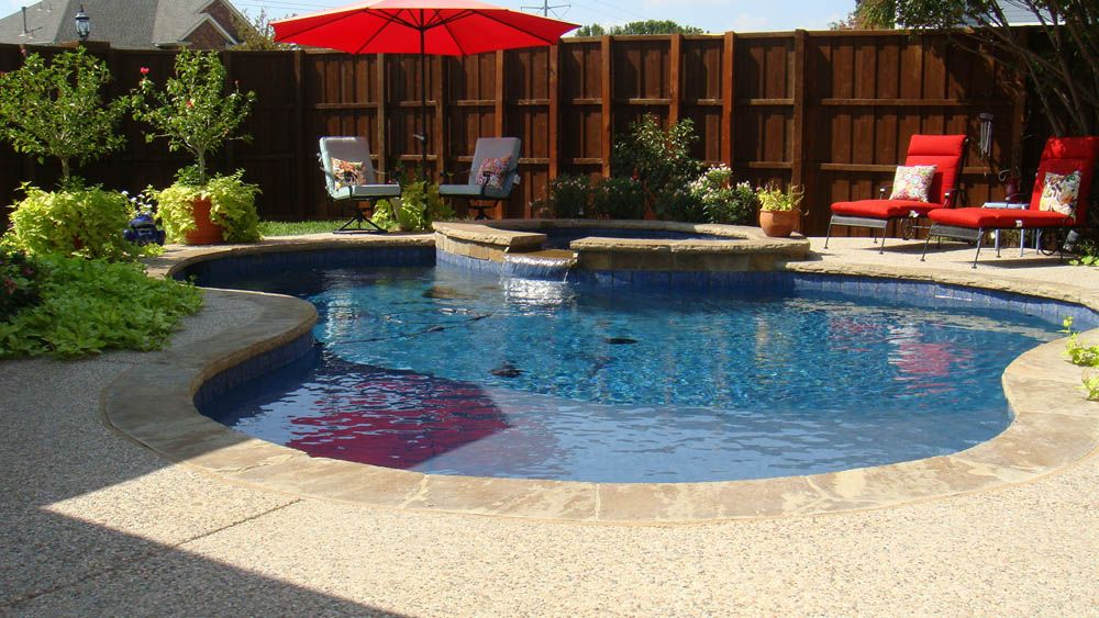 Simple Pool Ideas simple pool designs google search Simple Pool W Spa Large Shallow Area