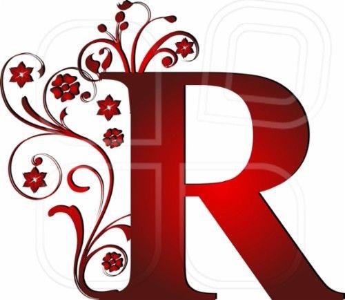 illuminated letter r