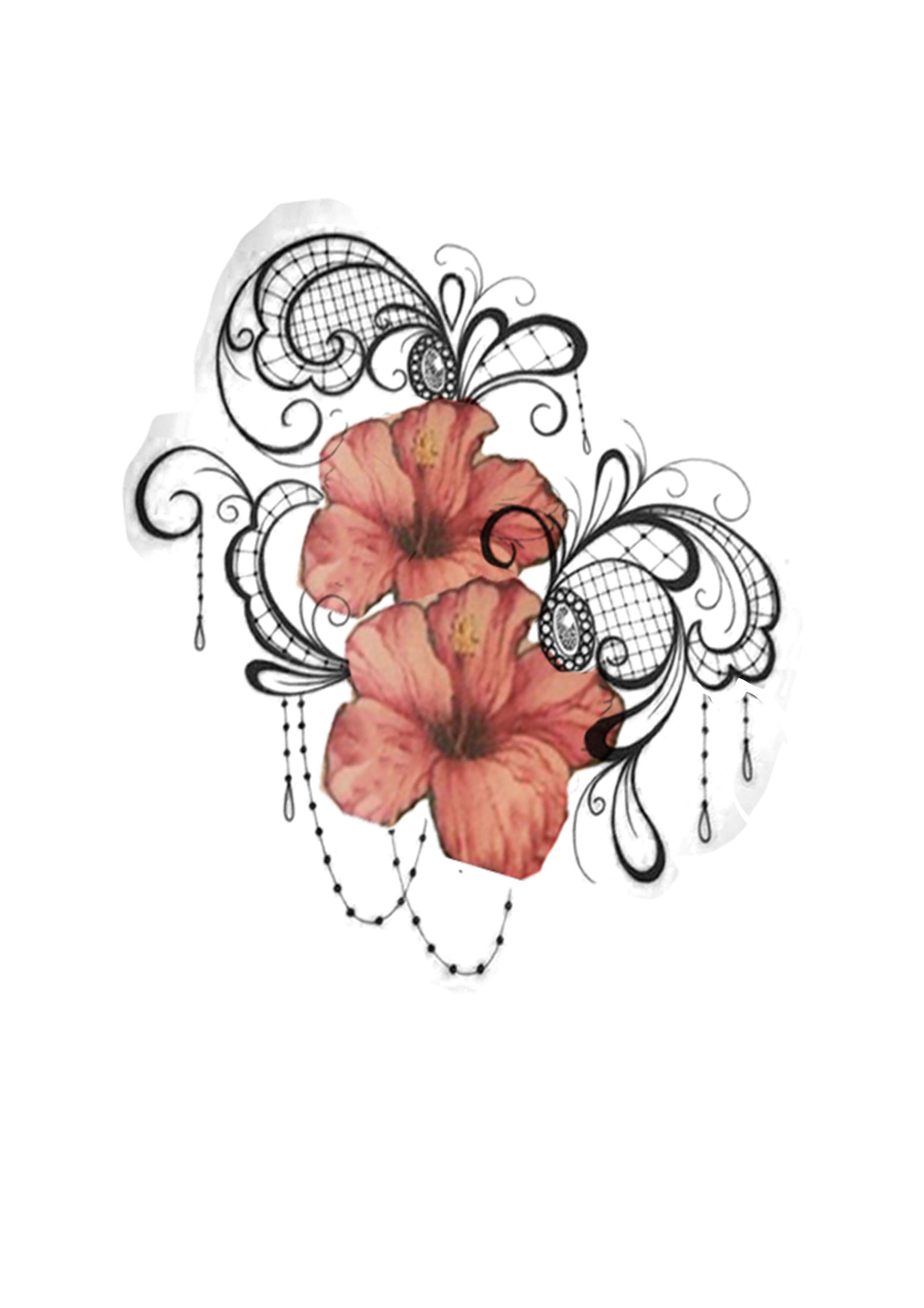 Lace Tattoo Hibisco Tattoo Tatpugem Hibiscus Hibiscus Tattoo