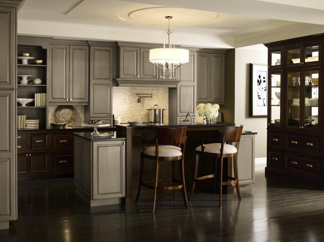 Pin By Kitchenland Inc On Kitchenland Las Vegas Grey Kitchens Cherry Cabinets Kitchen Kitchen Wall Colors