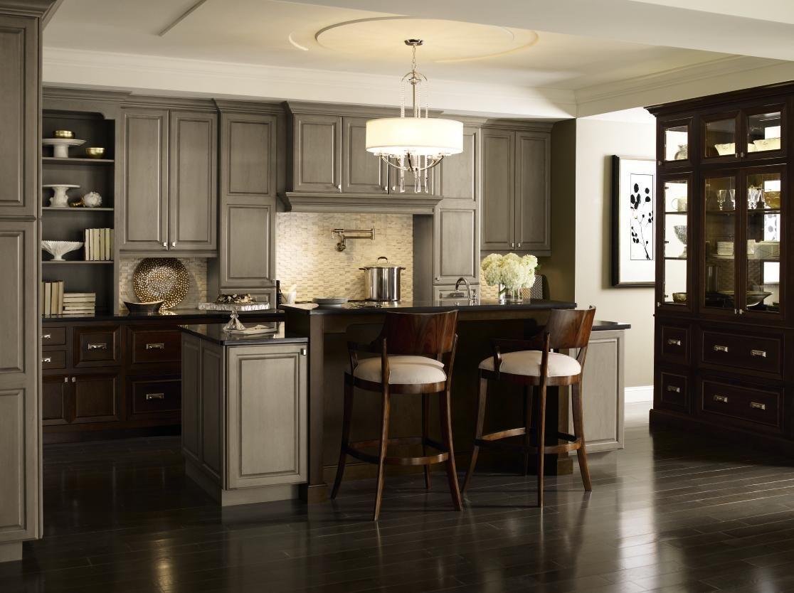Pin By Kitchenland Inc On Kitchenland Las Vegas Cherry Cabinets Kitchen Grey Kitchens Grey Kitchen Designs