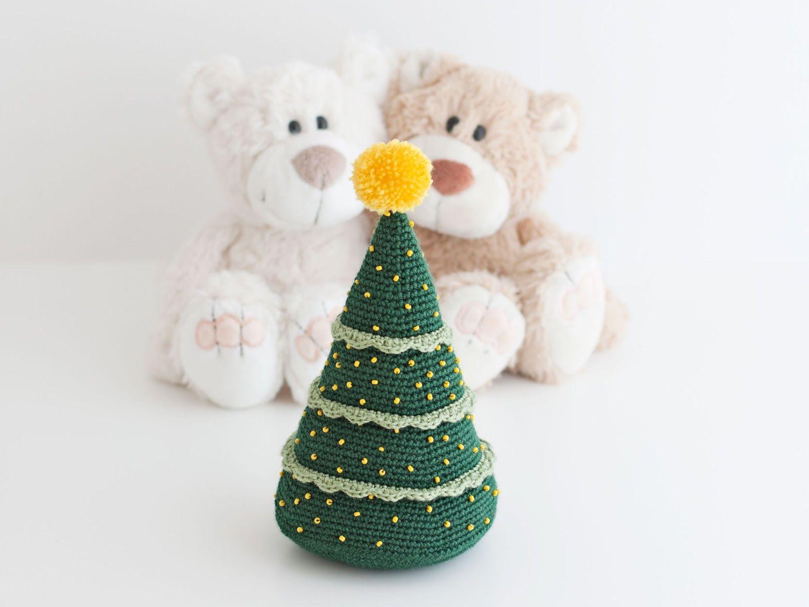 Amigurumi árbol de Navidad (patrón gratis) | muñecas | Pinterest ...