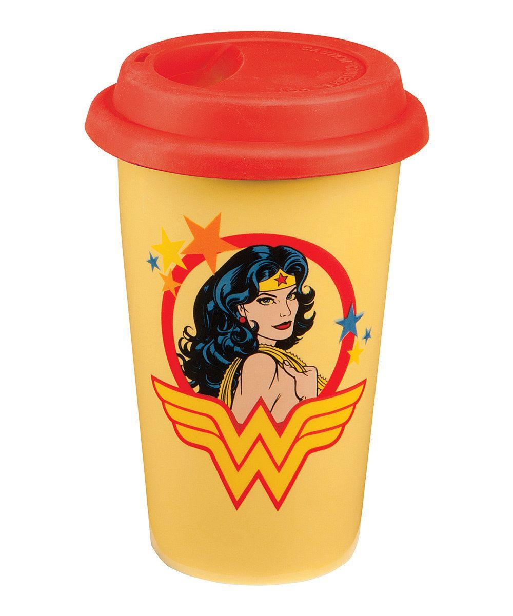 8709baf4fdb WonderWoman Ceramic Travel Mug My honey bought me one of these for my  birthday.