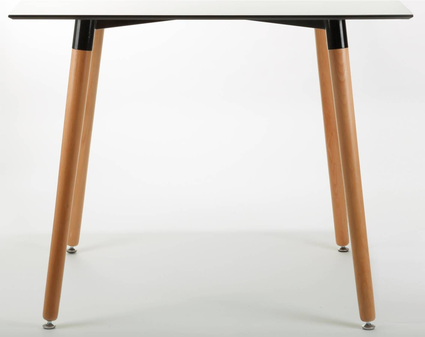 LAMAX table with wooden legs.
