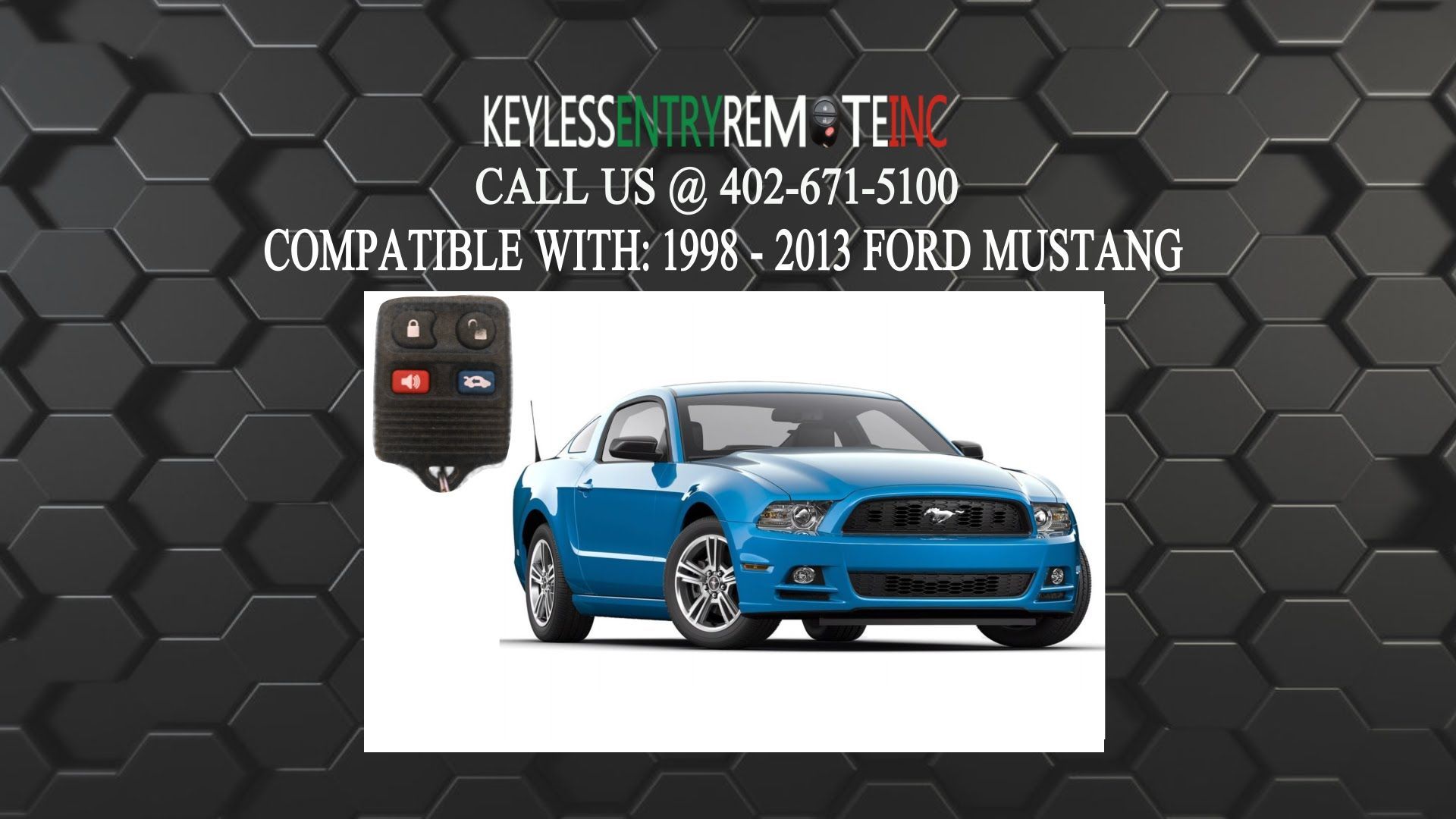 How To Replace A Ford Mustang Key Fob Battery 1998 2012 Ford Mustang Mustang Key Fob