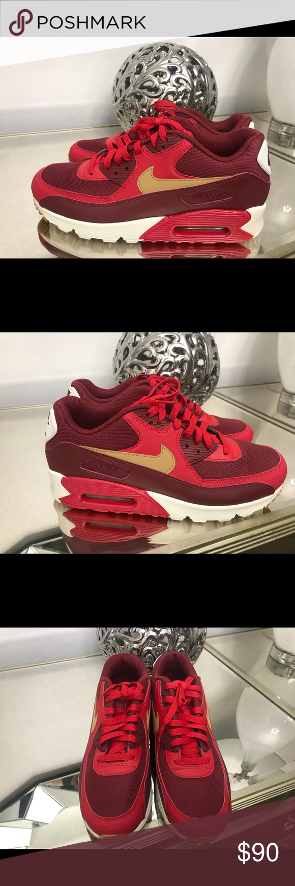 a7f8dbaa812 NIKE AIR MAX 90 ESSENTIAL BRAND NEW. COLOR GAME RED ELEMENTAL GOLD TEAM RED SAIL  Nike Shoes Sneakers