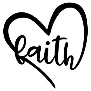 Download Faith heart | Silhouette design, Art projects, Silhouette