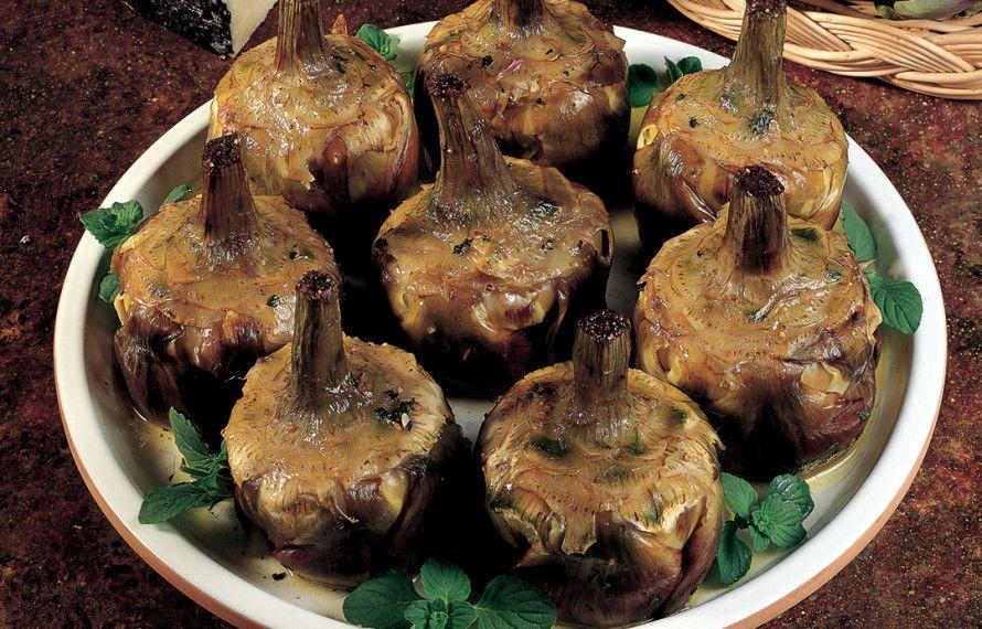 Carciofi alla romana ricetta ricette carciofi ripieni for Carciofi ricette