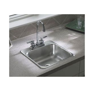Sterling B155b 2 Stainless Steel 15 Single Basin Drop In Stainless Steel Bar Sink With Silentshield Faucetdirect Com Bar Sink Steel Bar Stainless Steel Bar