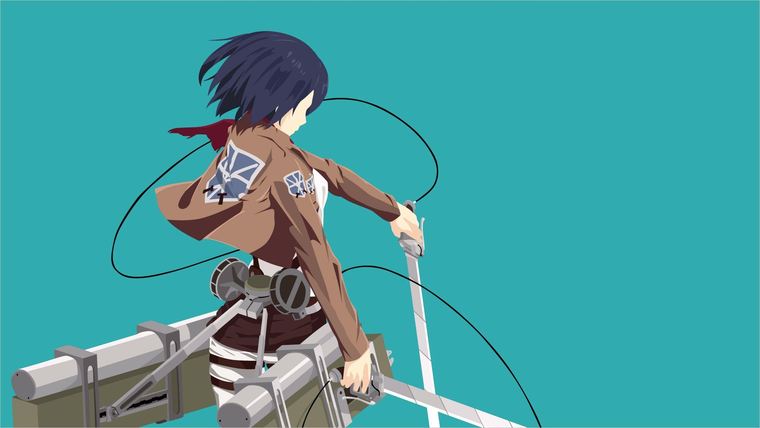 Attack On Titan 4k Wallpaper Mikasa In 2020 Attack On Titan Titans Attack