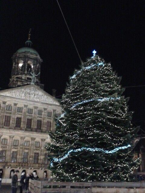 Dam Square Amsterdam Christmas tree Palace  #Kerst #ChristmasJoy