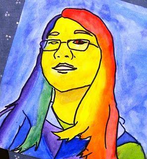 For The Love Of Art Pop Art Portraits Pop Art 6th Grade Art