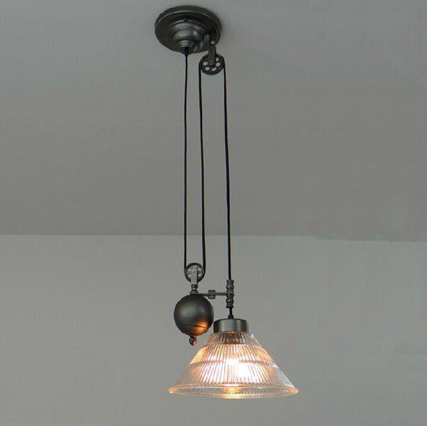 adjustable lighting fixtures. Vintage American Industrial Pendant Lights RH Loft Pulley Adjustable Wire Retractable Bar Hanglamp Lamp Light Fixtures Lighting :