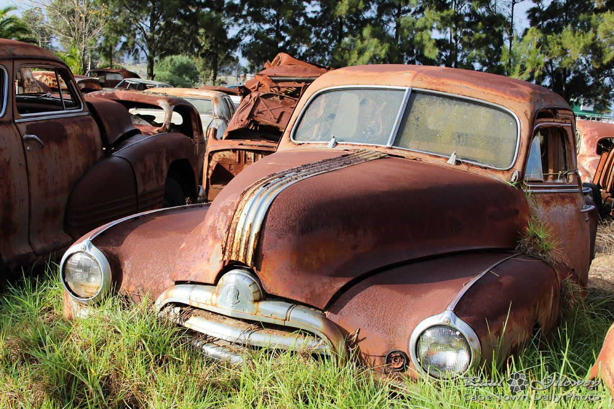 Rusted old cars at the Wijnland Auto Museum | Cape Town Daily ...