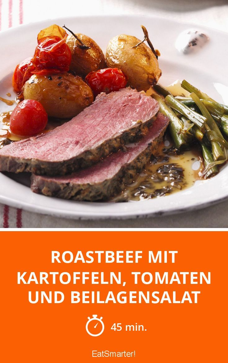 roastbeef mit kartoffeln tomaten und beilagensalat. Black Bedroom Furniture Sets. Home Design Ideas