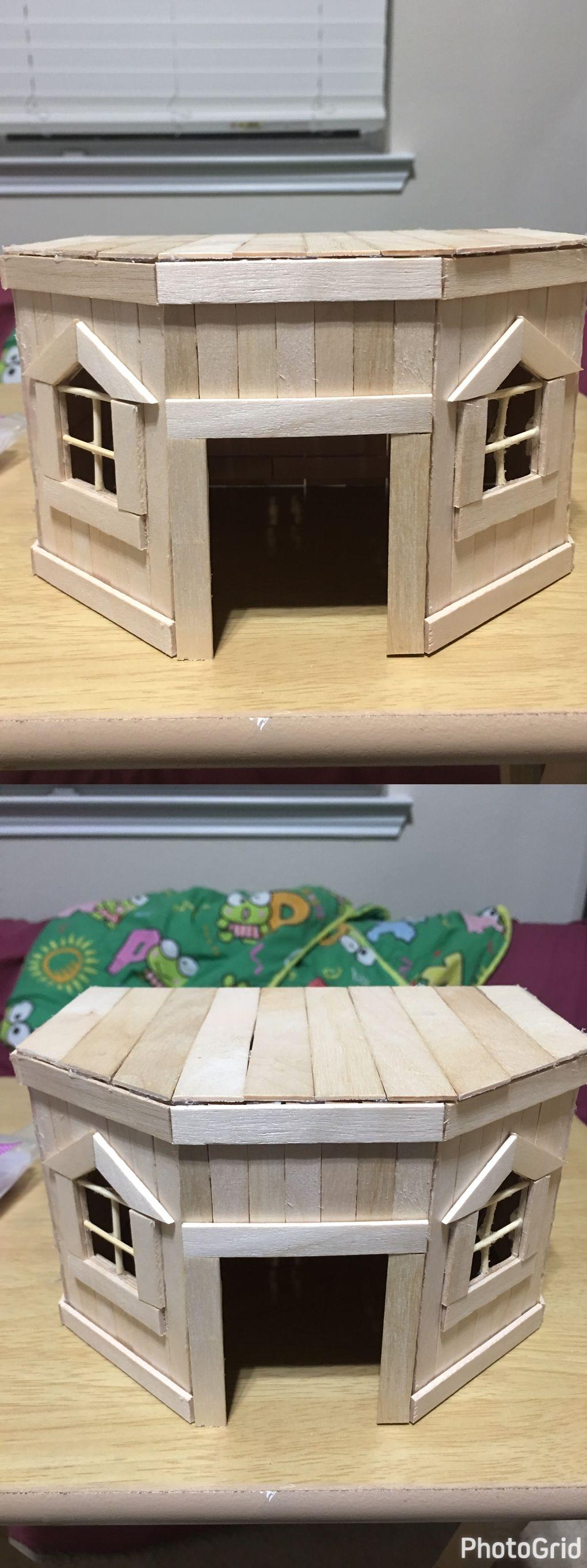 DIY Fairy House Idea Popsicle Sticks Iu0027d Make A Pointed Roof
