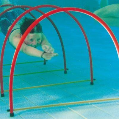 Swim Through Tunnel Pool Underwater Swimming Half Hoops Pool Toys Cool Swimming Pools Swimming Pool Games