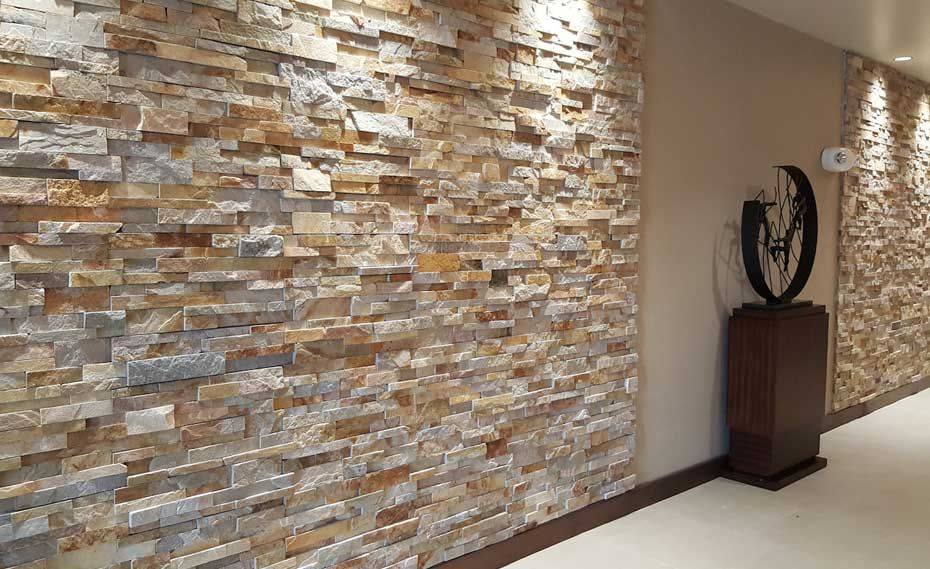 Gold Stacking Ledgestone Panel Veneer Stone Walls Interior Stone Veneer Wall Stone Cladding
