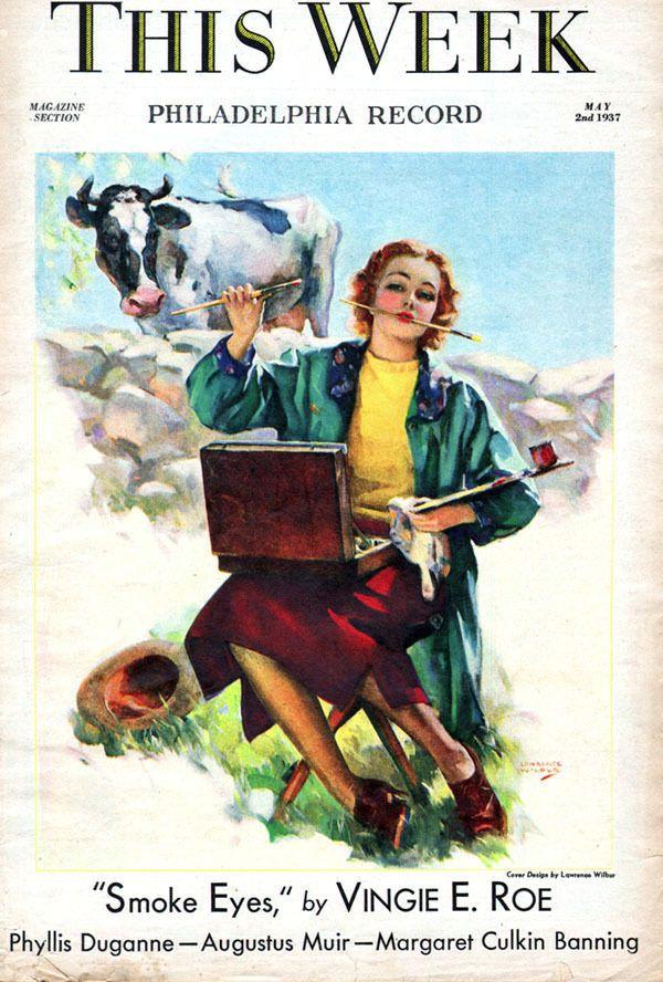 Lawrence Wilbur Girl Plein Air Painter VINGIE E ROE Dionne