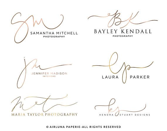 custom calligraphy initials logo handwritten photography initials logo design my work. Black Bedroom Furniture Sets. Home Design Ideas