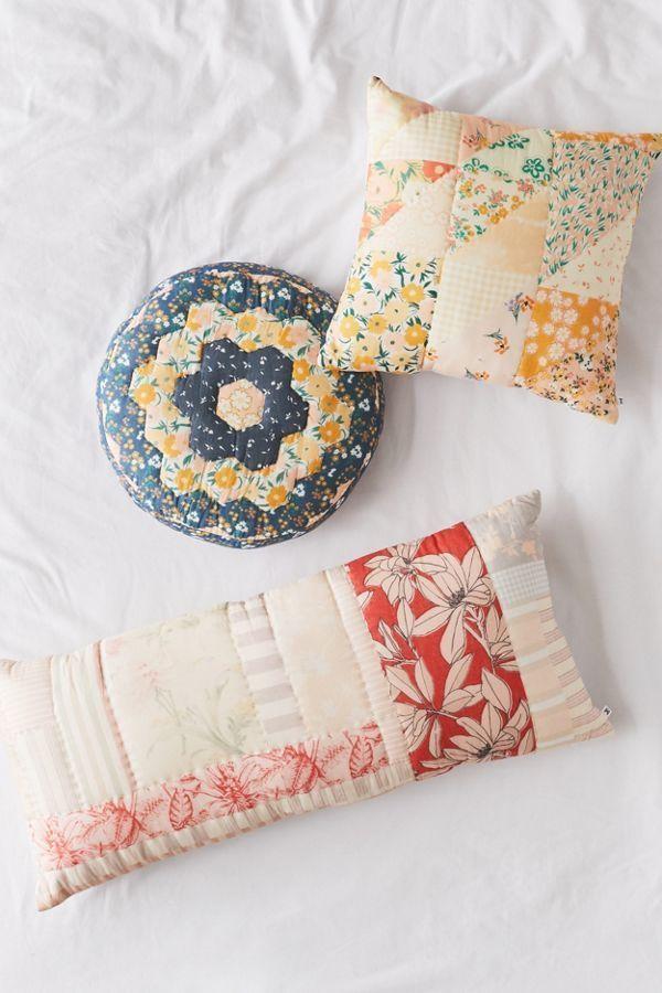Mae Patchwork Throw Pillow    #Patchwork #Throw #Pillow