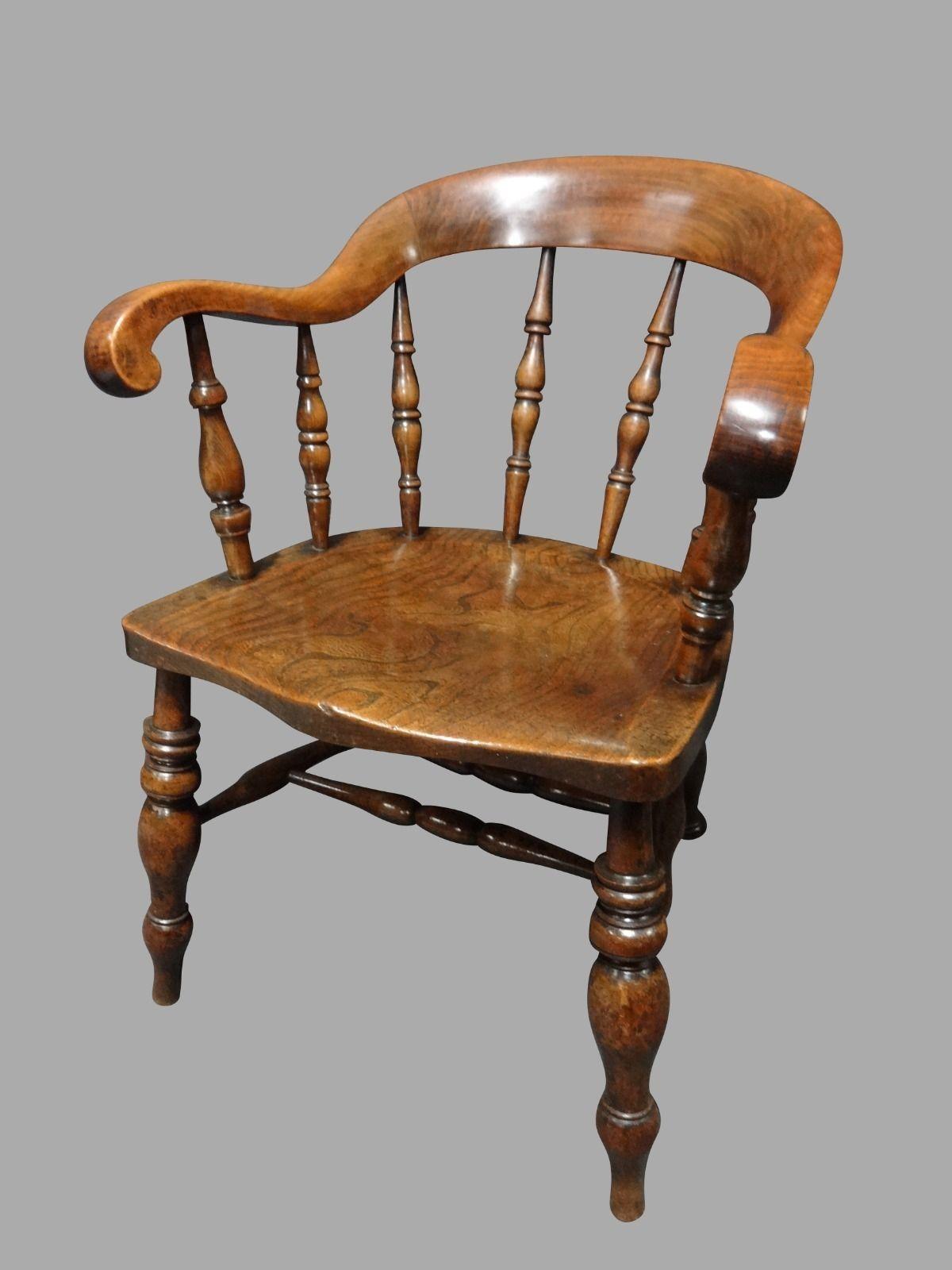 Good Victorian Elm Desk Chair Vintage Desk Chair Antique Desk Chair Victorian Chair