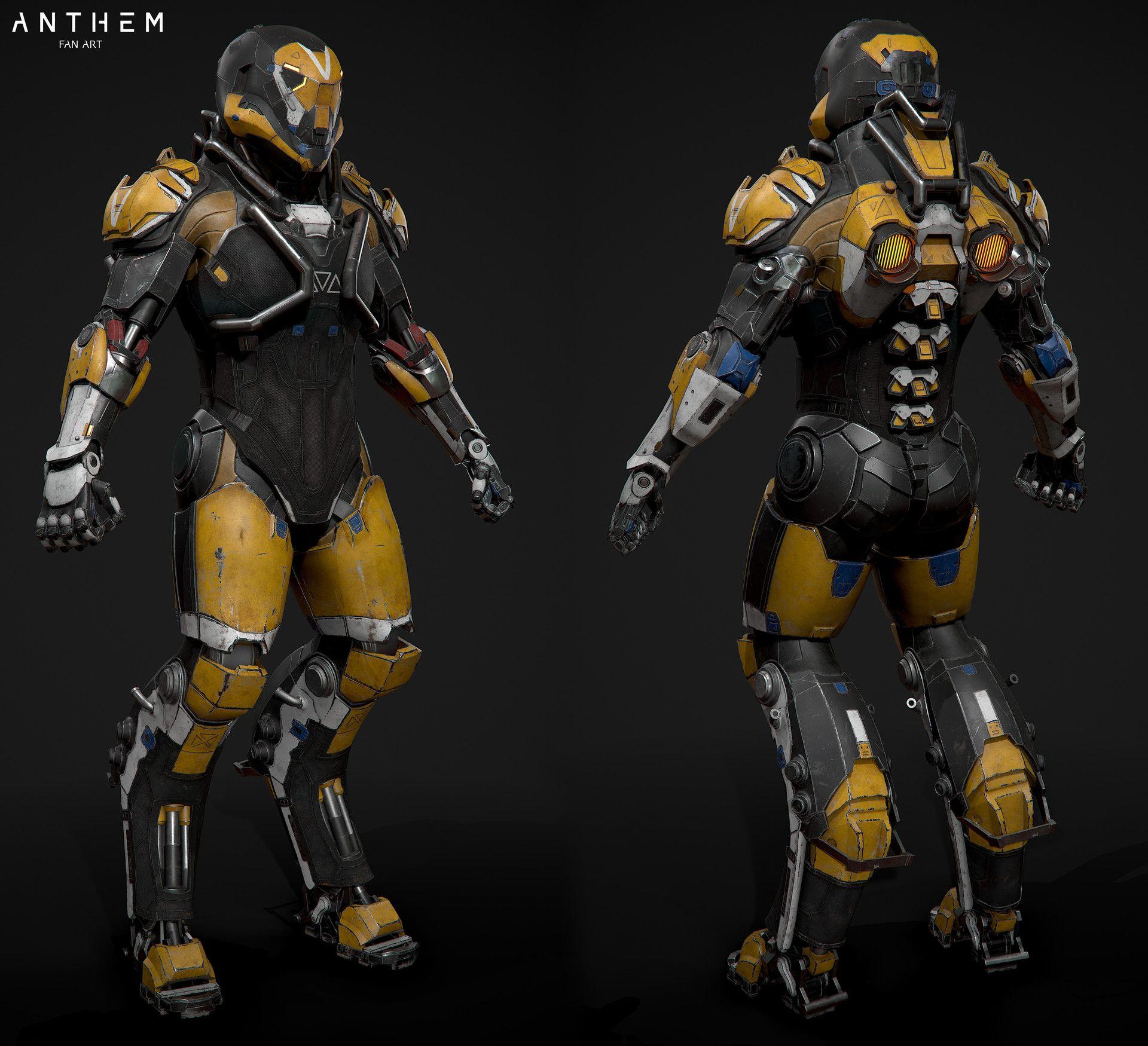 Artstation The Javelinrangerkonstantin Ilyin 01exoskeleton外