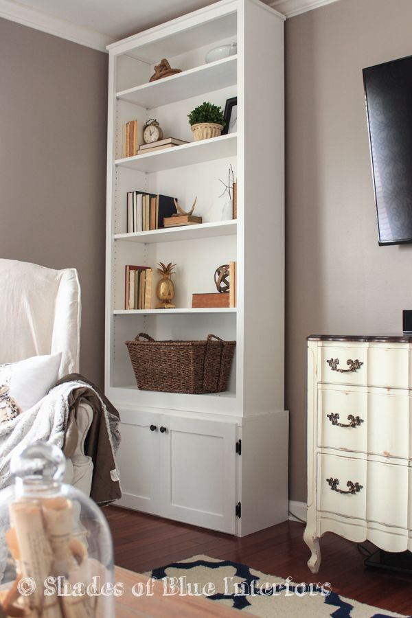 Design Your Own Living Room Free: How To Build A Custom Cabinet Base For A Bookcase