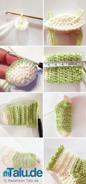 Babysocken Selbst Häkeln Anleitung A A Pinterest Crochet