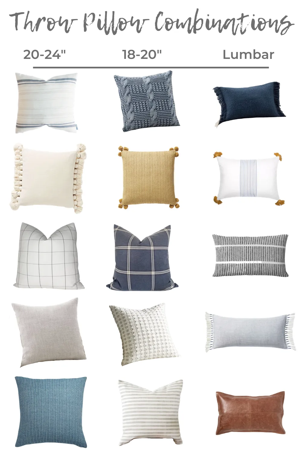 5 Throw Pillow Combinations In 2020 Throw Pillow Combinations Throw Pillows White Couch Throw Pillows Living Room